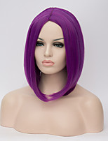 European and American Wigs in the long Hair Wigs Purple Straight Hair Wig 12inch