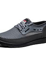 Da uomo Sneakers Comoda Tulle Tessuto Primavera Estate Casual Comoda Lacci Piatto Grigio Cammello 2,5 - 4,5 cm