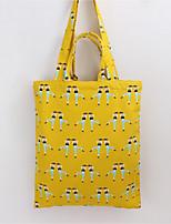 Women Shoulder Bag Canvas All Seasons Casual Shopper Zipper Dark Green Light Green Yellow Navy Blue Black