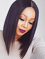 10-16 Inch Brazilian Virgin Human Hair  Lace Front Wig Straight BOB Wig