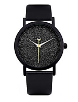 Women's Fashion Watch Quartz Automatic self-winding Leather Band Black