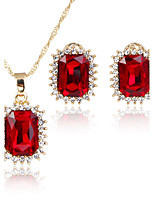 Jewelry Set Bridal Jewelry Sets Pendants AAA Cubic Zirconia Euramerican Fashion Simple Style Classic Cubic Zirconia Rhinestone Zinc Alloy