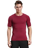 Herrn Laufen T-shirt Oberteile Rasche Trocknung Atmungsaktiv Weich Videokompression Komfortabel Herbst SportbekleidungCamping & Wandern