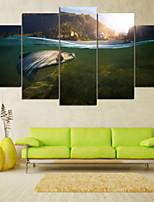 Impression d'Art Paysage Pastoral,Cinq Panneaux Format Horizontal Imprimé Décoration murale For Décoration d'intérieur