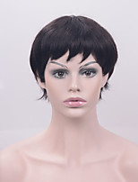 Hot Selling Natural Short Bob Straight Black Hair Heat Resistant Synthetic Glueless Lace Front Wigs