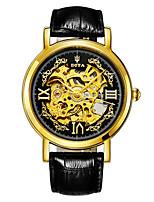 Муж. Модные часы Механические часы С автоподзаводом Календарь Защита от влаги Кожа Группа Черный Коричневый