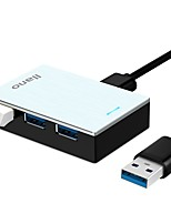 Llano Mini Metal Silver USB3.0 HUB Super-Speed 4 Port with 100CM Cable