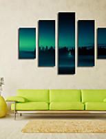 Художественная печать Пейзаж Пастораль,5 панелей Горизонтальная Печать Искусство Декор стены For Украшение дома