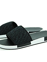 Men's Slippers & Flip-Flops Comfort Tulle Spring Casual Comfort Ruby Gray Black Flat