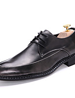 Men's Oxfords Fall Winter Formal Shoes Patent Leather Office & Career Party & Evening Dress Casual Red Black Big Size