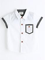 Boys' Solid Color Shirt,Cotton Summer Short Sleeve