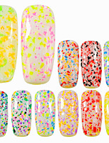 0.2g/bottle Diamond Bottle Fashion Sweet Style Nail Art Colorful Candy Colors Snowflake Irregular Flakes Beautiful DIY Beauty Charm Decoration XH01-12