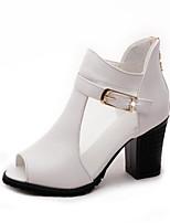 Women's Sandals Comfort Light Soles PU Spring Summer Fall Winter Casual Outdoor Office & Career Walking Comfort Light SolesBuckle