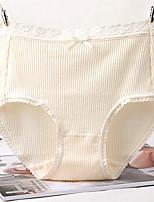Rétro Solide Sous-vêtements Moulants Slips-Rayonne
