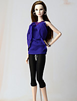 Outfits Top For Barbie Doll Top Pants 147 Girl's Doll Toy