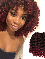 8inch 20roots/pack Synthetic crochet Ombre braiding Jumpy Wand Curl Braids hair Jamaican Bounce Twist African Hair Extension Kanekalon