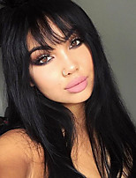Hot Selling Brazilian Virgin Hair Glueless Lace Wigs Straight Lace Front Human Wigs Virgin Hair Wig with Bang