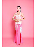 Belly Dance Women's Performance Chiffon Paillettes 1 Sleeveless