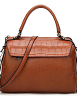 Women Tote PU All Seasons Formal Casual Event/Party Outdoor Office & Career Barrel Zipper Amethyst Wine Brown Black
