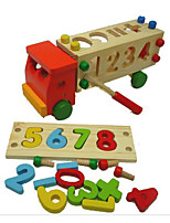 Building Blocks Pegged Puzzles For Gift  Building Blocks Truck Wood 2 to 4 Years 5 to 7 Years Toys