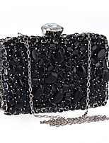 L.WEST Woman Fashion Luxury High-grade Imitation Diamonds Evening Bag
