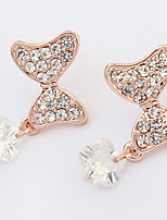 Euramerican  Fashion Elegant  Rhinestone  Bowknot Women's  Party Earrings Set  Movie Jewelry