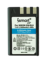 Ismartdigi New EL9 7.4V 1000mAh Camera Battery for Nikon ENEL9 A EL9 A D40 D40X D60 D5000 D3000