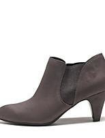 Women's Heels Comfort PU Spring Casual Comfort Gray 1in-1 3/4in