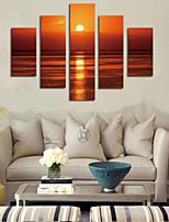 Художественная печать Пейзаж Пастораль,5 панелей Горизонтальная С картинкой Декор стены For Украшение дома