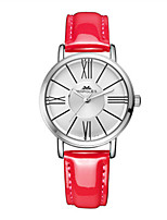 Women's Fashion Watch Quartz PU Band White Blue Red