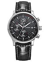 Мужской Модные часы Кварцевый С автоподзаводом Защита от влаги Кожа Группа Черный Коричневый