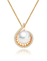 Women's Pendant Necklaces Jewelry Jewelry Pearl Alloy Unique Design Euramerican Fashion Jewelry ForWedding Party Birthday Congratulations