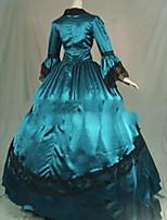 Une Pièce/Robes Gothique Lolita Cosplay Vêtrements Lolita Rétro Mancheron Manches Longues Ras du Sol Robe Pour Autre
