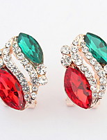 Euramerican  Luxury  Multicolor  Rhinestone  Women's  Daily  Beautiful  Ear Clips Movie Jewelry
