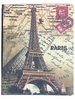 For Apple iPad 4/3/2 Case Cover with Stand Flip Pattern Full Body Case Eiffel Tower Hard PU Leather