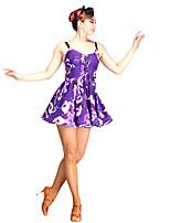 Latin Dance Dresses Women's Performance Chinlon Tulle Milk Fiber
