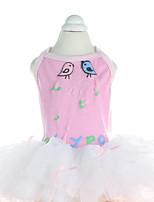 Chien Robe Vêtements pour Chien Décontracté / Quotidien Mode Animal Jaune Bleu Rose
