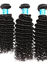 Tissages de cheveux humains Cheveux Indiens Ondulation profonde 12 mois 3 Pièces tissages de cheveux