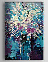 Hand-Painted  Abstract Flower Oil Painting With Stretcher For Home Decoration Ready to Hang