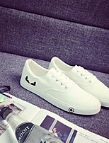 Men's Sneakers Comfort Canvas Tulle Spring Casual Comfort White Black Flat