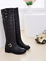 Women's Boots Comfort PU Spring Casual Brown Black Flat