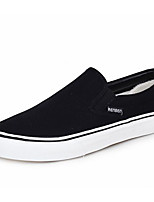 Men's Loafers & Slip-Ons Comfort Canvas Spring Casual Black Gray Blue Flat