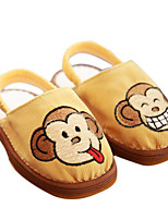 Girls' Flats First Walkers Fabric Spring Fall Casual Walking First Walkers Magic Tape Low Heel Yellow Flat