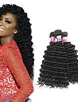 Tissages de cheveux humains Cheveux Brésiliens Ondulation profonde 1 An 3 Pièces tissages de cheveux