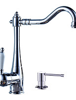 Contemporary Centerset Ceramic Valve Single Handle One HoleKitchen faucet