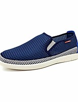 Men's Sneakers Comfort Canvas Tulle Spring Casual Comfort Blue Green Flat