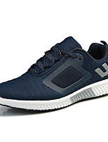 Men's Sneakers Comfort Fabric Spring Summer Athletic Casual Comfort Lace-up Flat Heel Black Gray Ruby Blue Flat