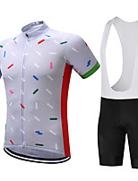 SUREA Cycling Jersey with Bib Shorts Men's Short Sleeve Bike Clothing Suits Quick Dry Breathable Sweat-wicking Compression Coolmax LYCRA®