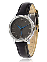 Women's Fashion Watch Quartz Calendar Water Resistant / Water Proof Leather Band Casual Black Brown