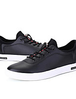 Men's Sneakers Comfort PU Spring Casual White Black Gray Flat